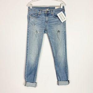 Rag & Bone | The Dre cuffed distressed skinny jean